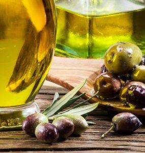 olive oild on face