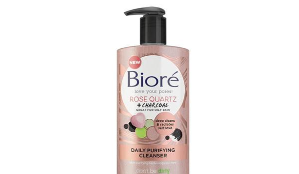 Bioré-Rose-Quartz-Charcoal-Daily-Purifying-Cleanser